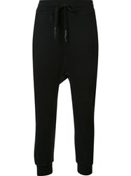11 By Boris Bidjan Saberi Drawstring Track Pants Black