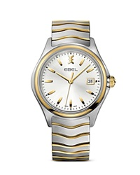 Ebel Wave Stainless Steel And 18K Yellow Gold Watch 40Mm Silver Gold