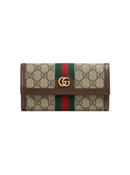 Gucci Ophidia Gg Continental Wallet Nude And Neutrals