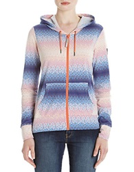 Bench Mesh Hooded Zip Up Jacket Coral Multi