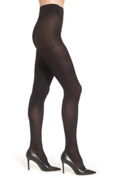 Nordstrom Plus Size Women's Opaque Control Top Tights Black