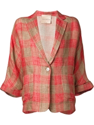 Erika Cavallini Semi Couture Checked Oversized Blazer