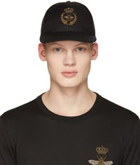 Dolce And Gabbana Black Crown Bee Cap