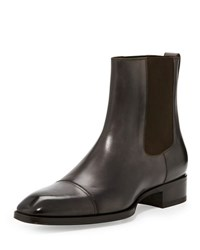 Tom Ford Gianni Leather Chelsea Boot Grey