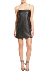 Whitney Eve 'Escalante' Textured Shift Dress Juniors Black