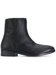 Paul Smith Ps By Flat Ankle Boots Calf Leather Leather 38.5 Black
