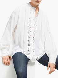And Or Christobel Broderie Anglaise Blouse Ivory