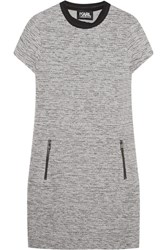 Karl Lagerfeld Bonded Tweed Mini Dress Light Gray