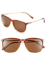 Women's Converse 'All Access' 55Mm Sunglasses Brown Plaid
