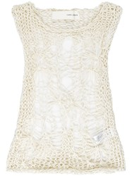 Isabel Benenato Spiderweb Top Women Cotton 40 Nude Neutrals