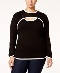 Ny Collection Plus Size Keyhole Top Lisa
