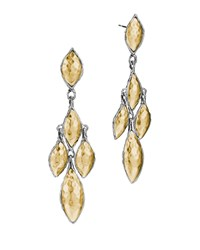 John Hardy Palu 22K And Silver Marquise Dangle Earrings Women's