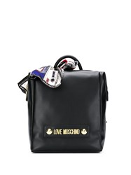 Love Moschino Structured Logo Plaque Backpack 60