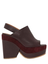 See By Chloe 90Mm Leather And Suede Wedges