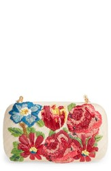 Franchi Garden Party Embroidered Box Clutch