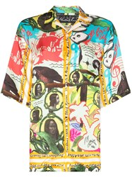 Martine Rose Hawaiian Print Collared Shirt Yellow