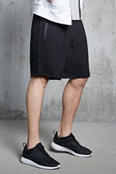 Forever 21 French Terry Zippered Shorts Black