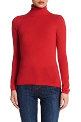 In Cashmere Turtleneck Sweater Red