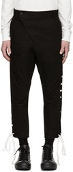 D.Gnak By Kang.D Black Straight Lace Up Trousers