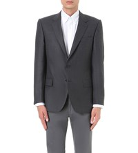 Gieves And Hawkes Regular Fit Wool Jacket Charcoal