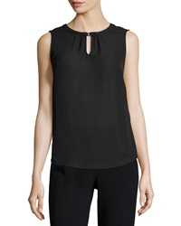 Laundry By Shelli Segal Sleeveless Keyhole Front Top Black 001