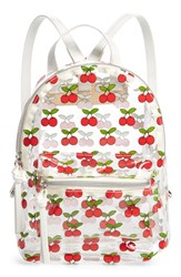 Bp. Transparent Cherry Print Mini Convertible Backpack Red Clear Red