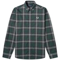 Fred Perry Authentic Tartan Shirt Green