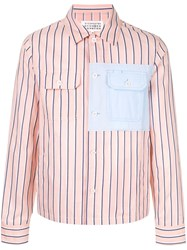 Maison Martin Margiela Striped Patch Shirt Pink