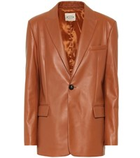 Tod's Leather Blazer Brown