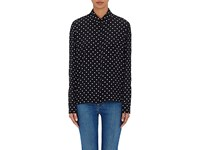 Stella Mccartney Women's Silk Crepe De Chine Blouse Black