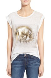 Women's Pam And Gela 'Frankie' Muscle Tee Burnout White
