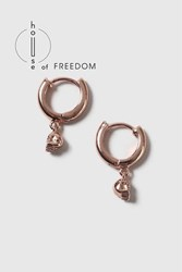 Topshop House Of Freedom Skull Hoop Earrings Rose Gold