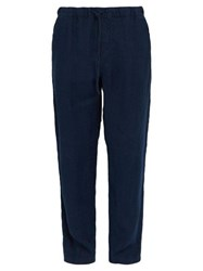 Onia Carter Linen Trousers Navy