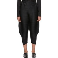 Issey Miyake Pleats Please Black Pleated Wide Bounce Trousers