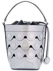 Pierre Hardy Studded Bucket Tote Metallic