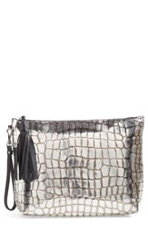 Etienne Aigner 'Medium Eva' Leather Wristlet