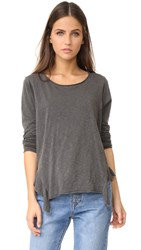Nsf Rosie Long Sleeve Top Pigment Black