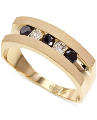 Effy Collection Effy Men's Black And White Diamond Band In 14K Gold 1 2 Ct. T.W.