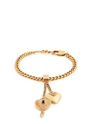 Chloe Collected Hearts Charm Bracelet Gold