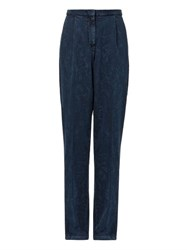 Aries High Rise Wide Leg Denim Trousers
