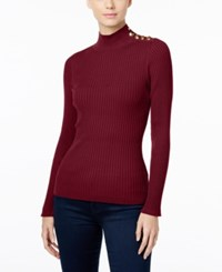 Inc International Concepts Petite Embellished Mock Neck Sweater Only At Macy's Port