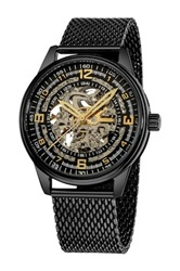 Akribos Xxiv Men's Saturnos Elite Automatic Watch Black
