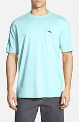 Tommy Bahama Men's Big And Tall 'New Bali Sky' Pima Cotton Pocket T Shirt Oceanfront