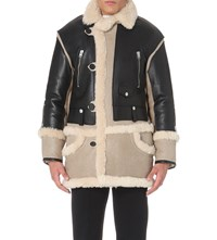 Coach Leather And Shearling Jacket Black