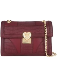 Love Moschino Gold Tone Hardware Shoulder Bag Red