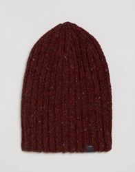Esprit Ribbed Neppy Beanie Red