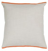 Chandra Textured Contemporary Cotton Pillow White Orange 18 Inch