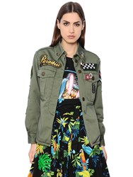 Marc Jacobs Embellished Light Cotton Canvas Jacket
