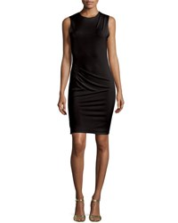 Alice Olivia Delores Side Pleat Fitted Tank Dress Black