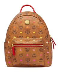 Mcm Stark Spektrum Visetos Backpack Brown Pattern